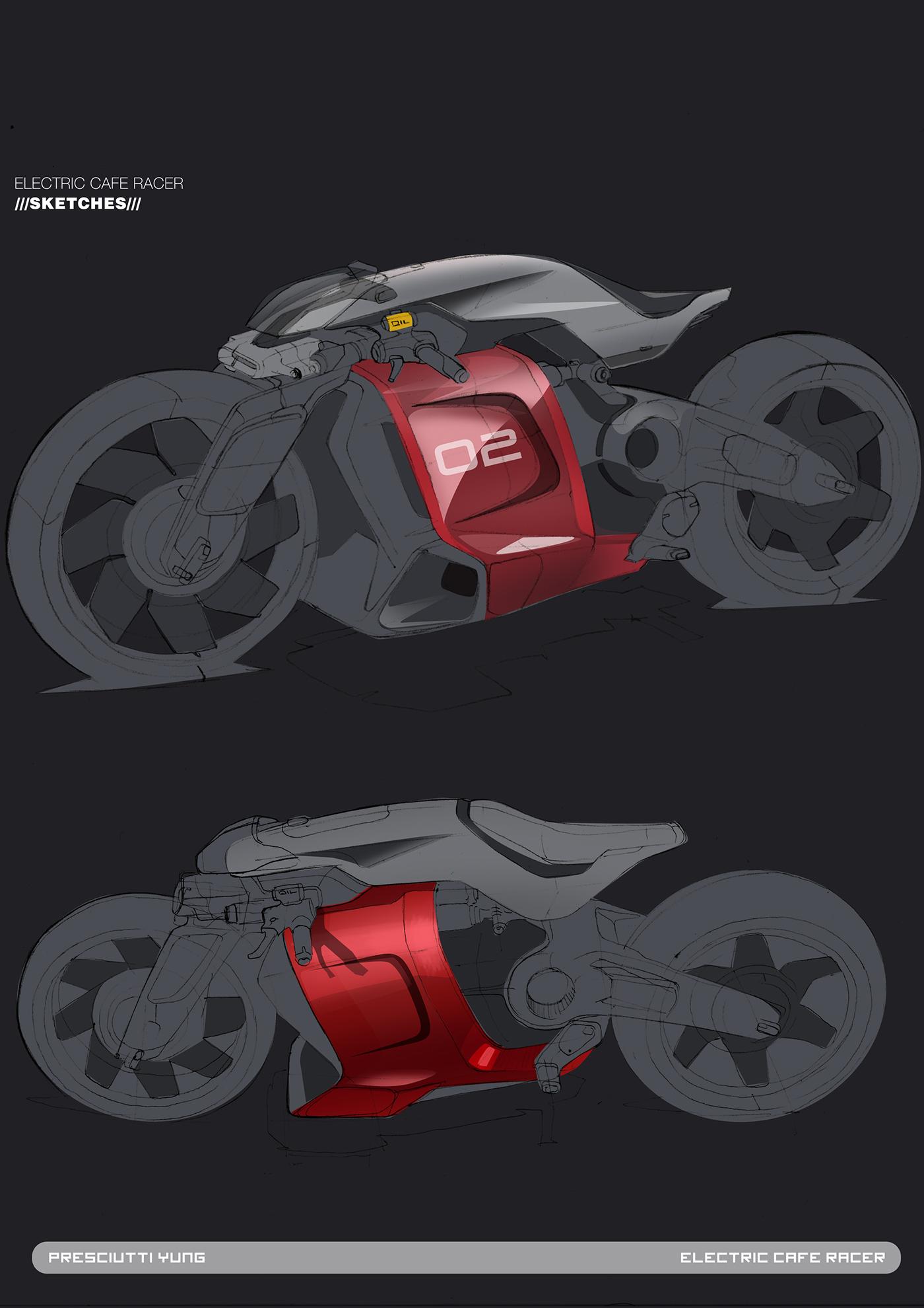 酷炫  CAFE王者摩托车