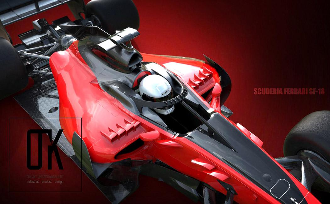 2017法  拉利F1赛车概念设计