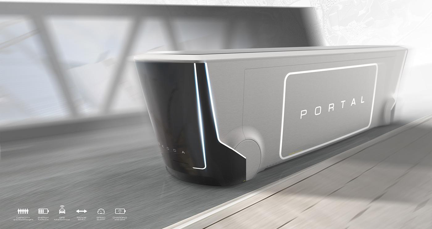 未来智能环保公交车