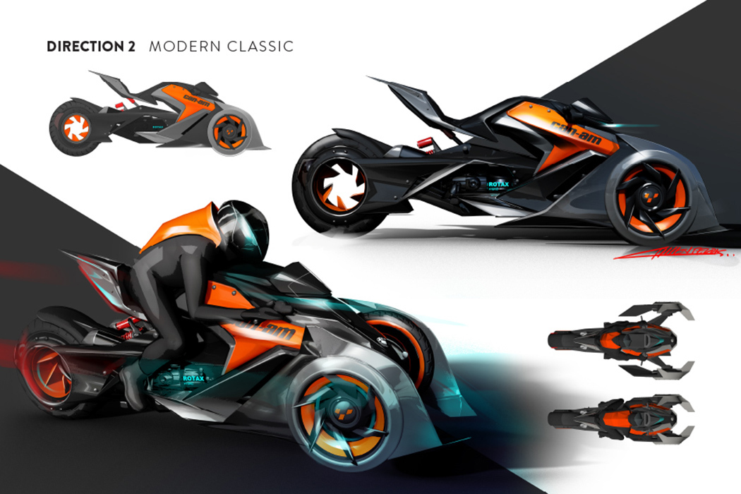 酷炫世爵未来机车概念设计