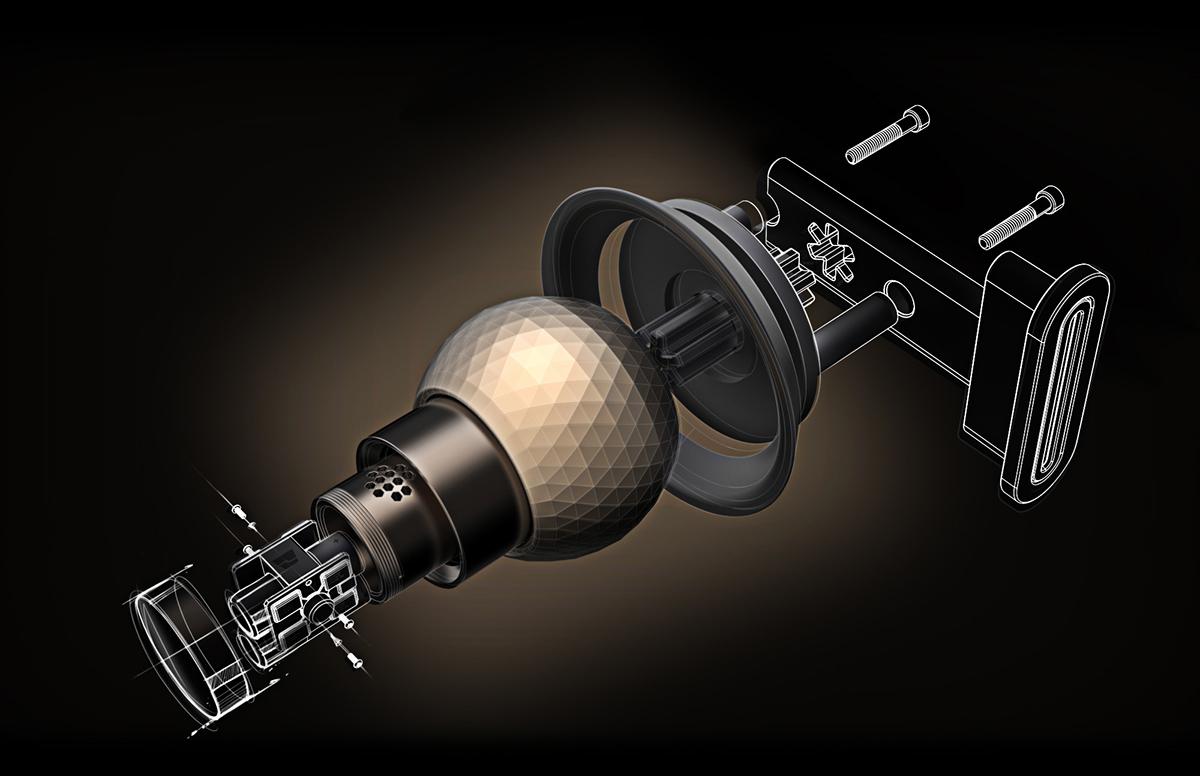 球形门锁设计