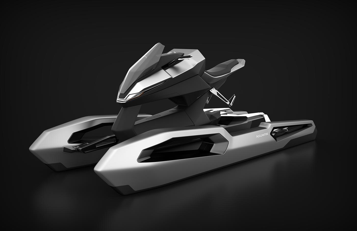 多功能两栖旅行电动摩托机车