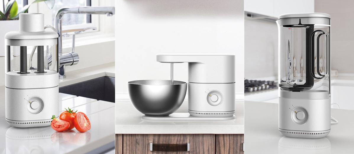 多功能模块化厨房中心电器设计