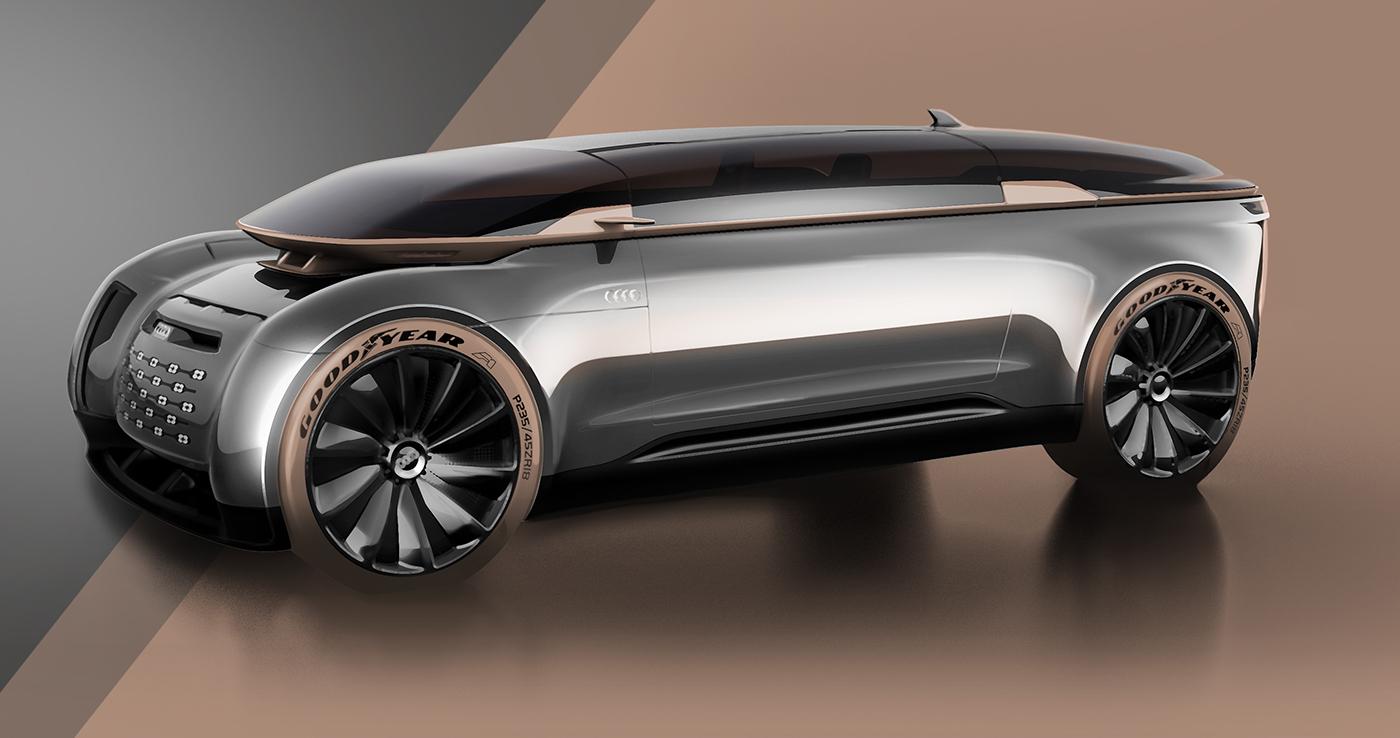 R-Imperator奥迪豪华自动驾驶汽车设计