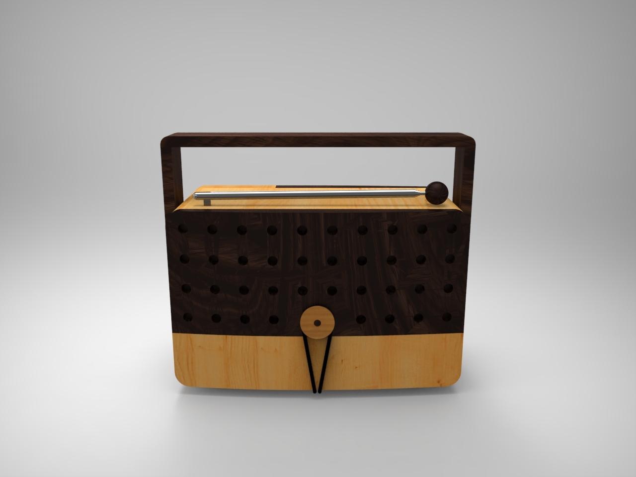 镍锰合金木制收音机设计