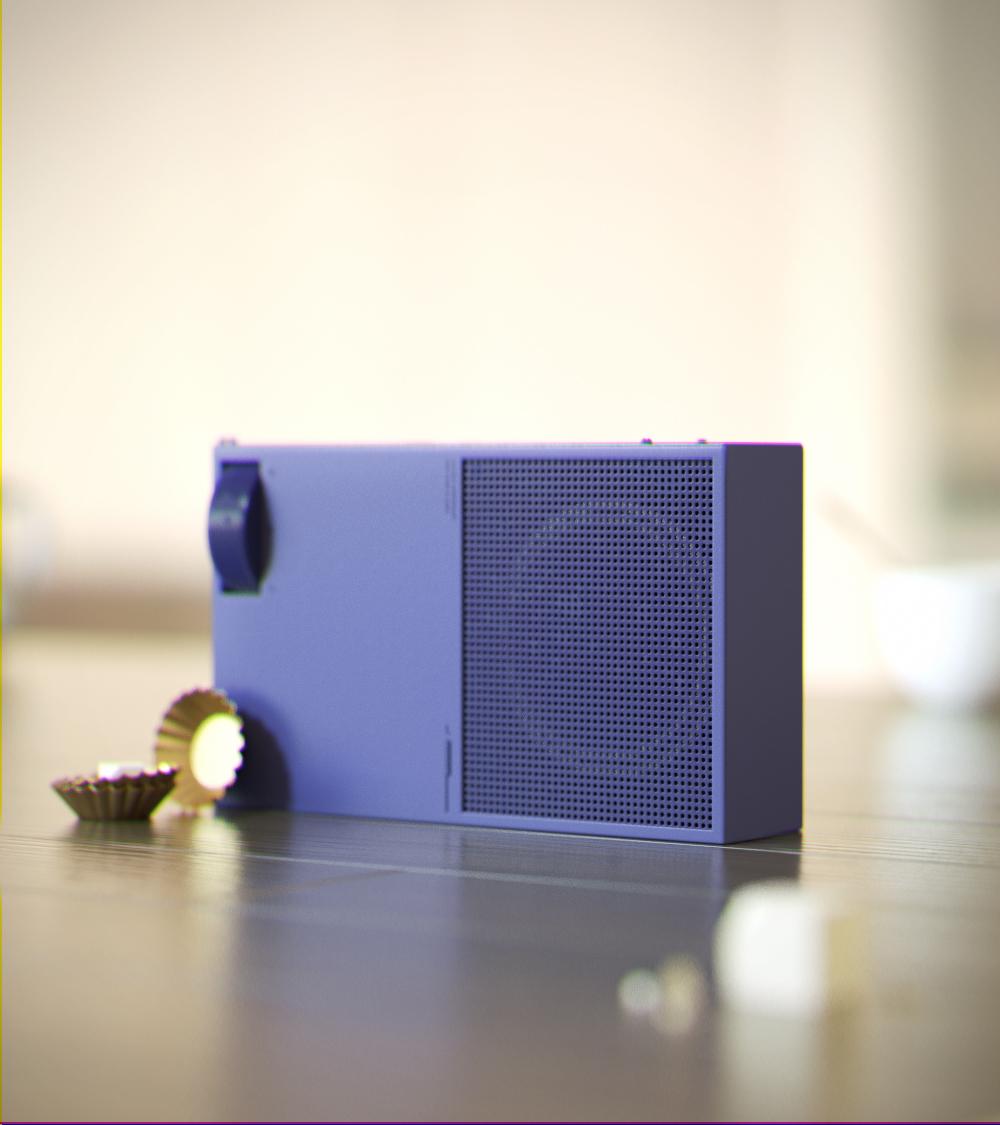 极简便携迷你音箱设计