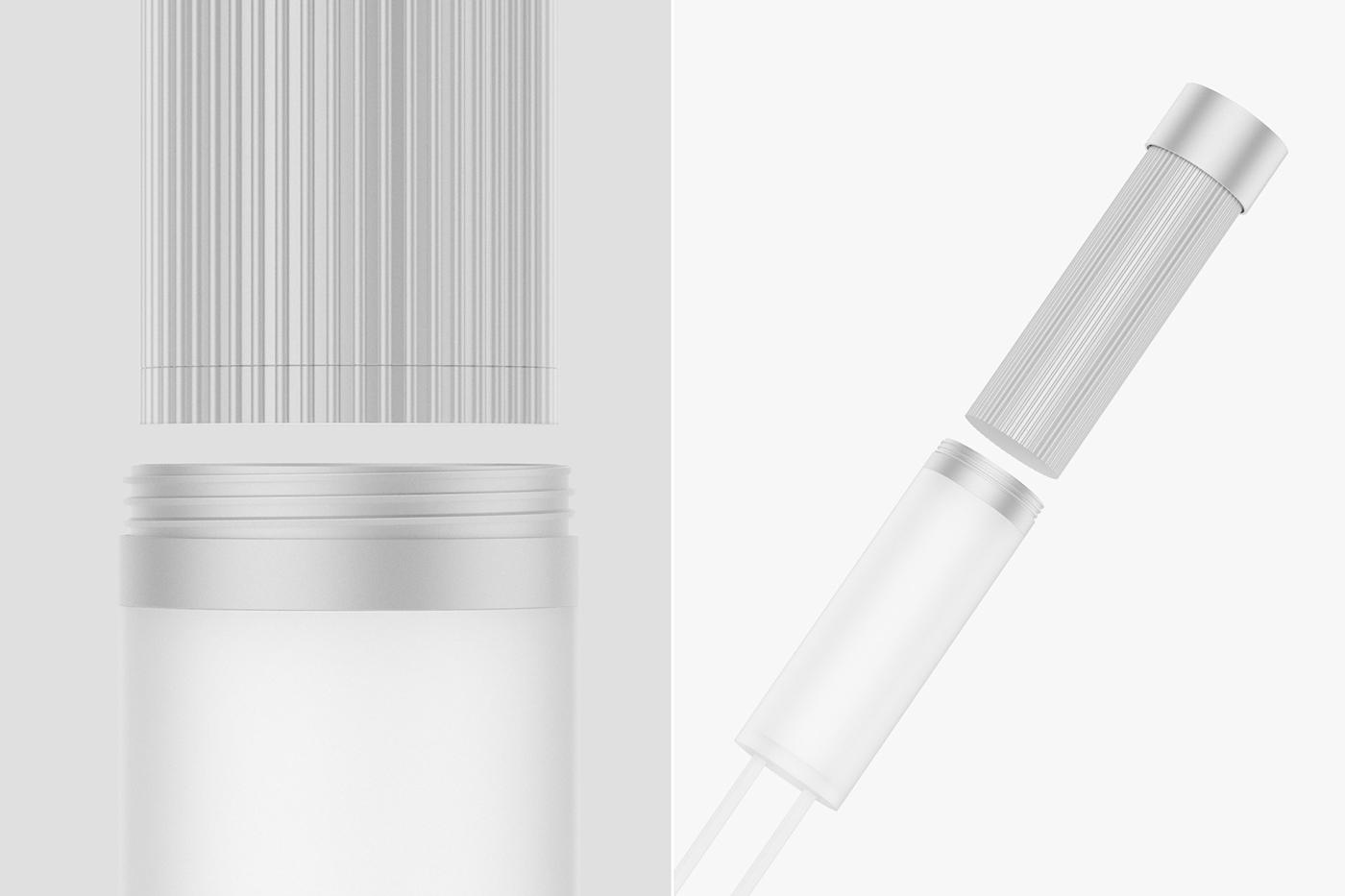 LED铝光手灯无印良品设计