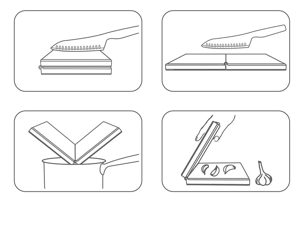 Bambleu可折叠双面砧板设计