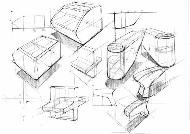 产品设计手绘技巧,手绘中的线和体的七种处理方法