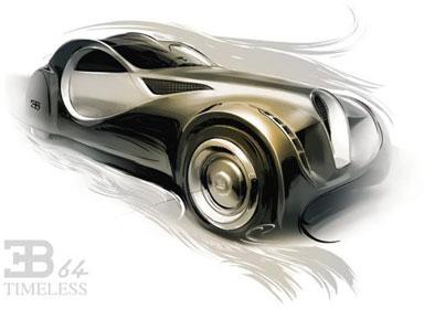 Bugatti 64T概念手绘汽车