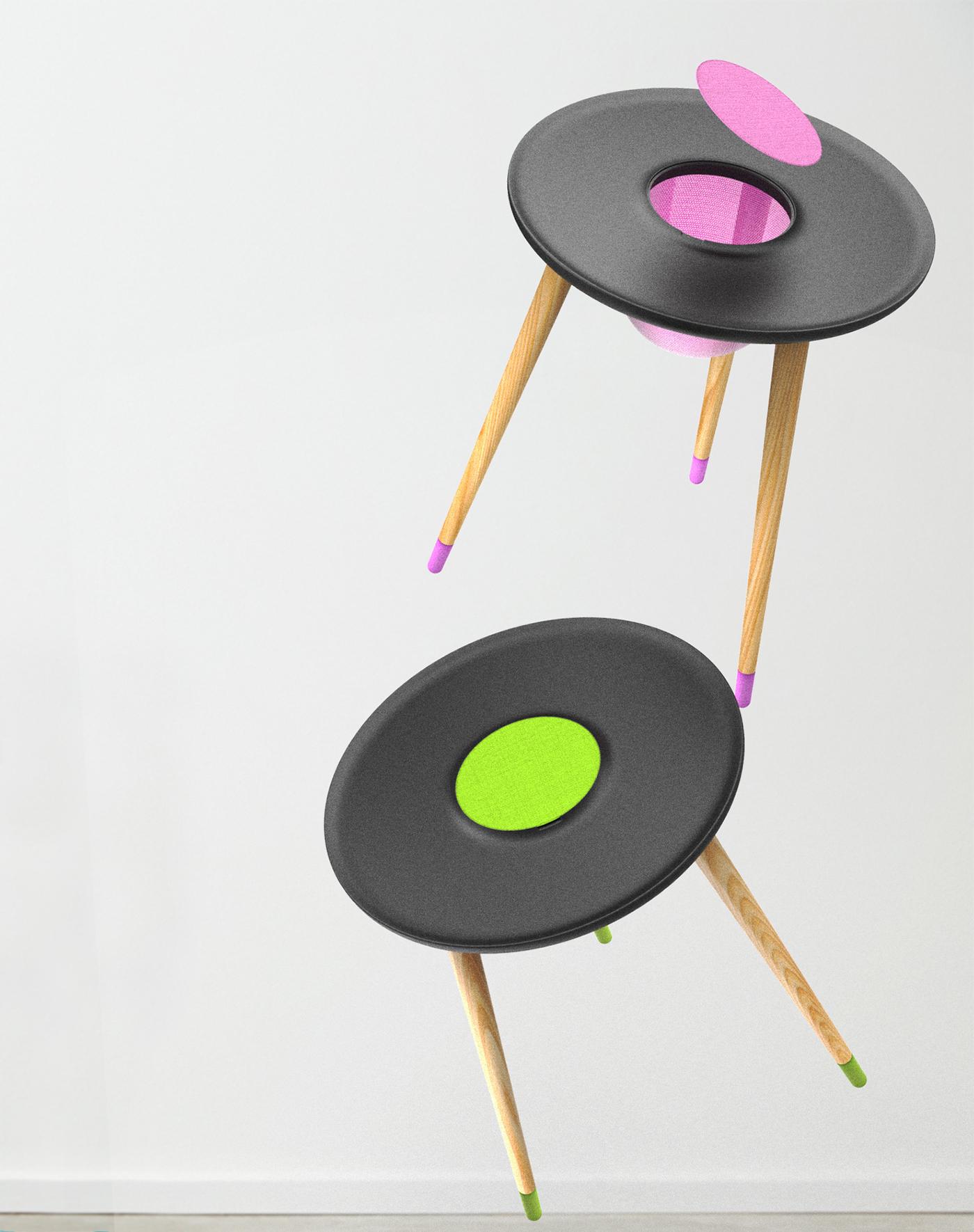 高颜值平板桌子设计