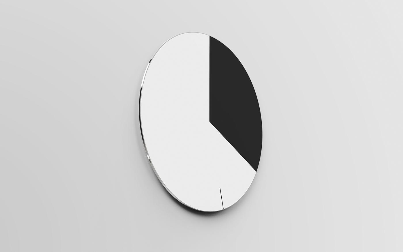 现代极简风格黑白时钟设计