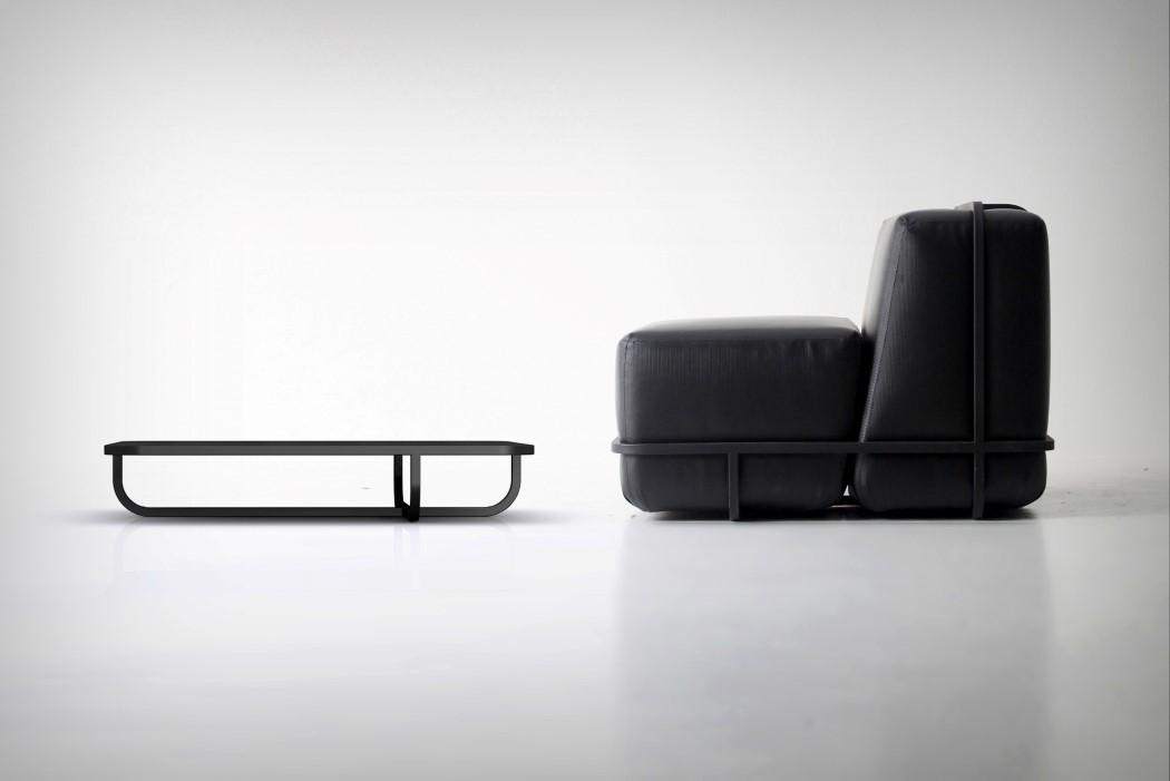 创意金属皮质可拆卸沙发