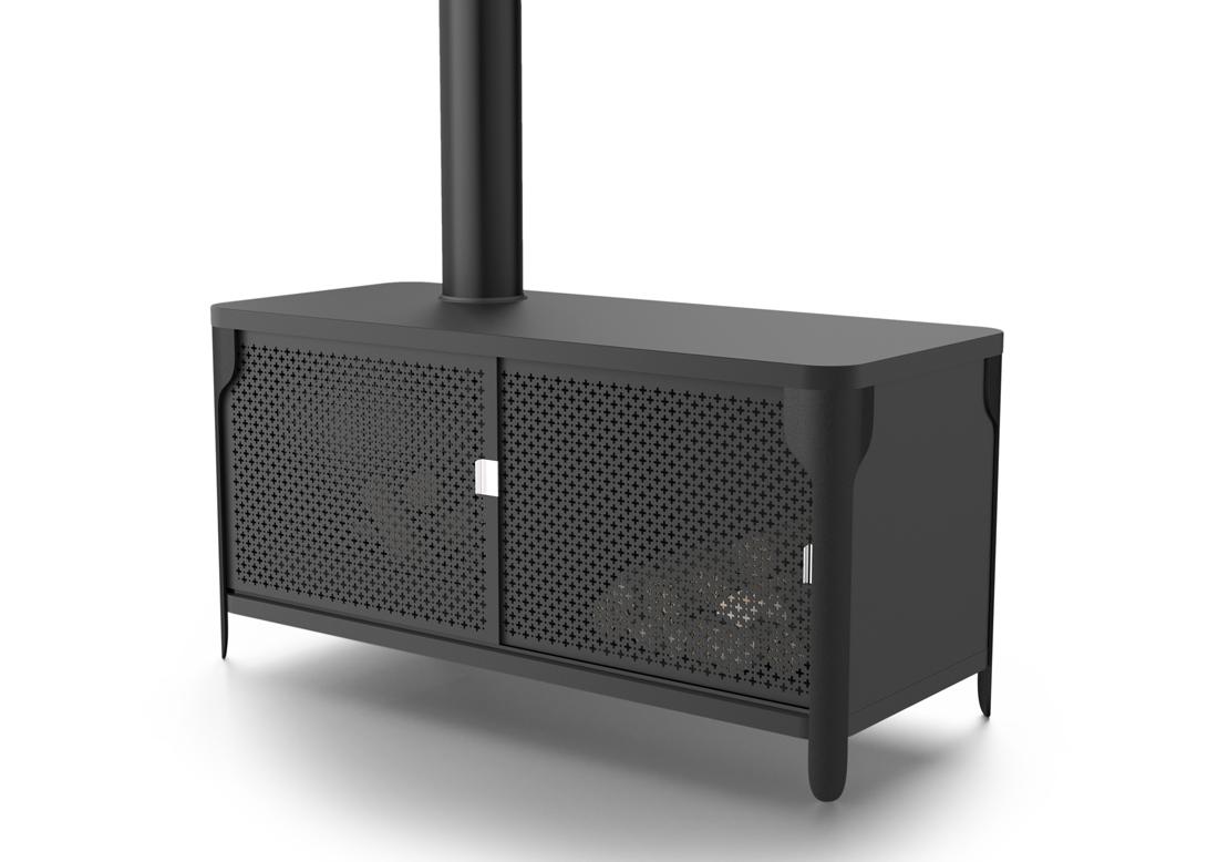 温暖的艺术品Ignis火炉设计