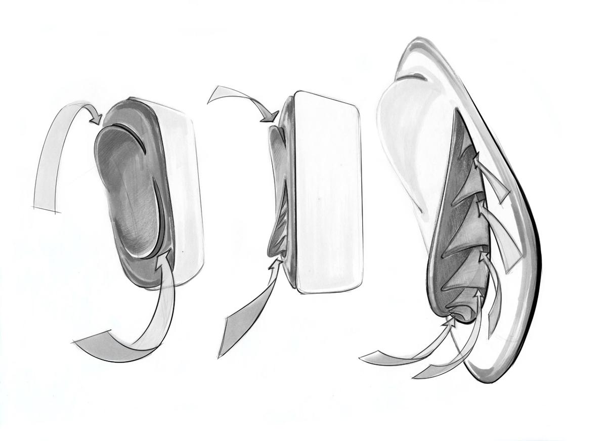 空气净化器设计及手绘稿
