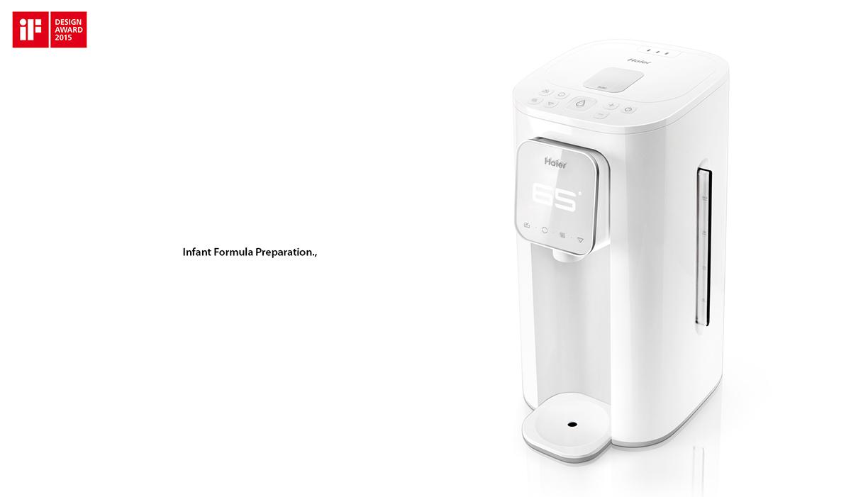 iF奖海尔恒温智能调奶器设计