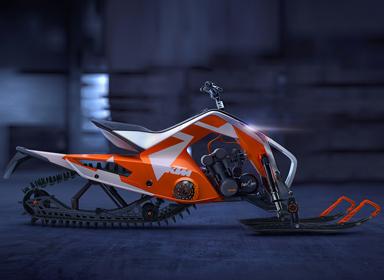 atv混合动力雪地摩托车设计
