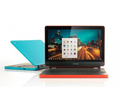 chromebook曲线美彩色便携电脑
