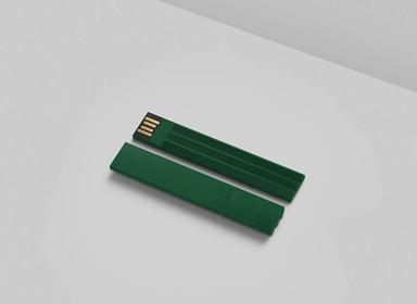 极简主义u盘USB棒设计