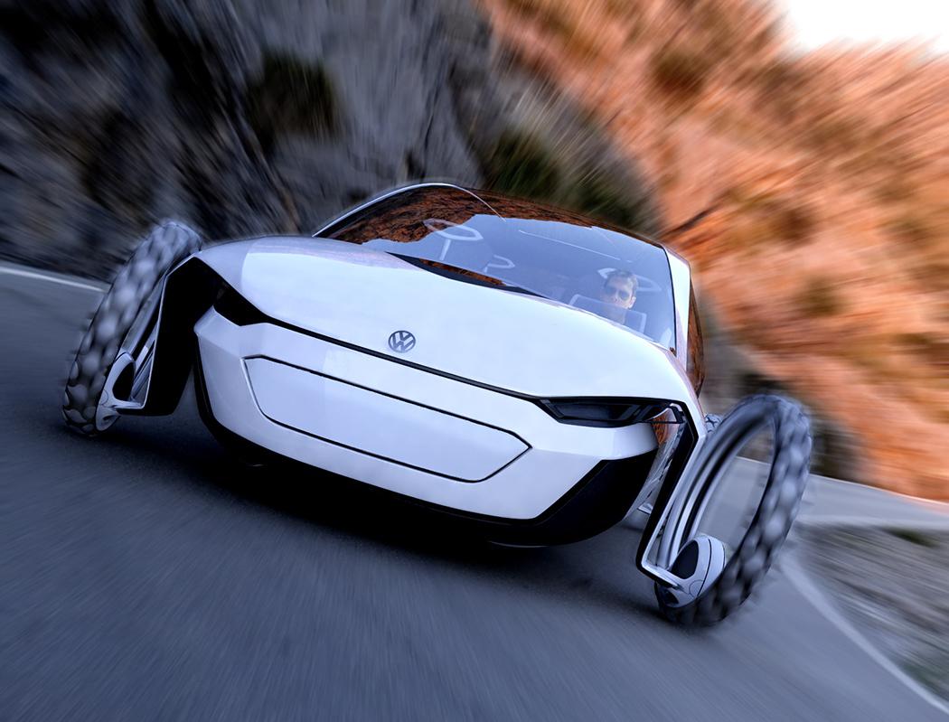 大众太阳能概念汽车设计