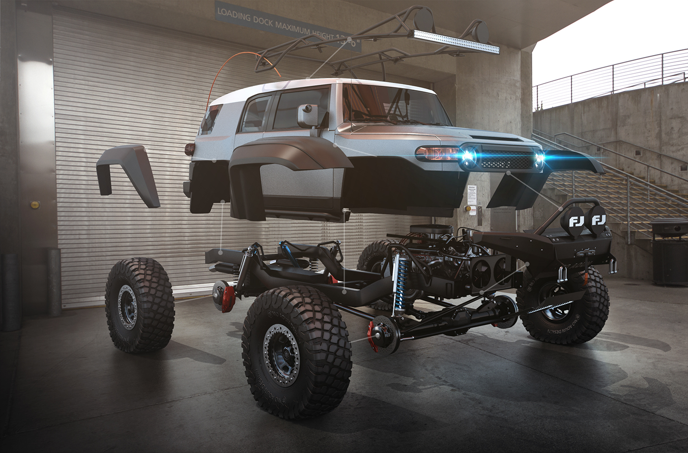 超霸气越野车设计