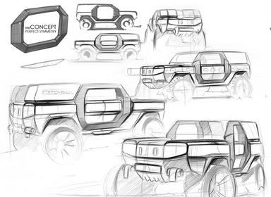 汽车手绘设计稿件