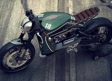 复古风格未来摩托车概念设计