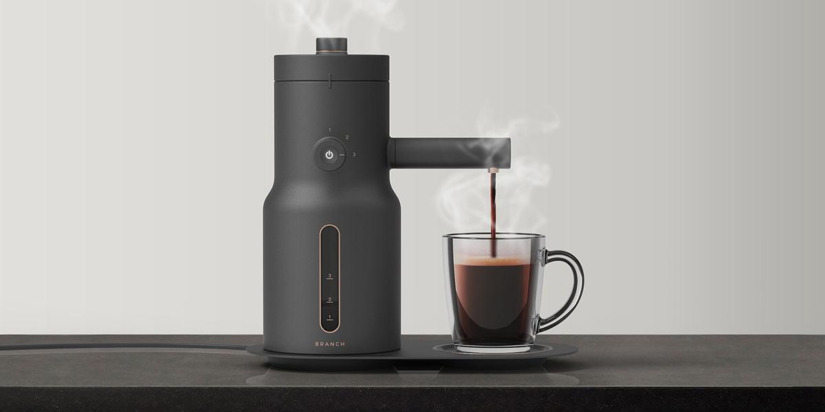 极简风格咖啡机设计