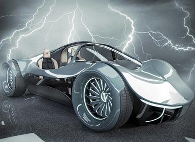 科技感十足的汽车概念设计