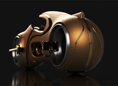 土豪金摩托车概念设计
