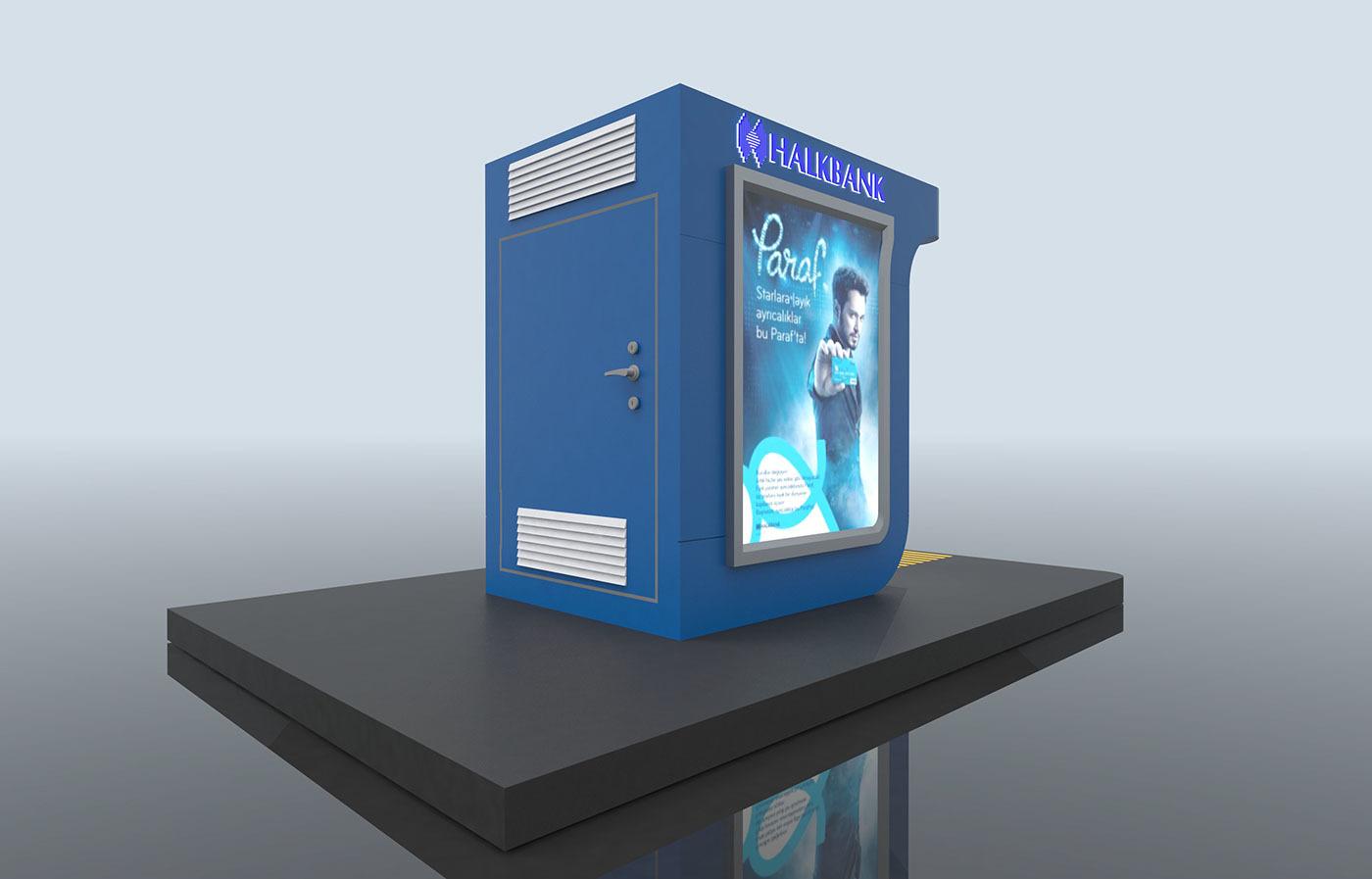 HalkBank室外ATM机设计