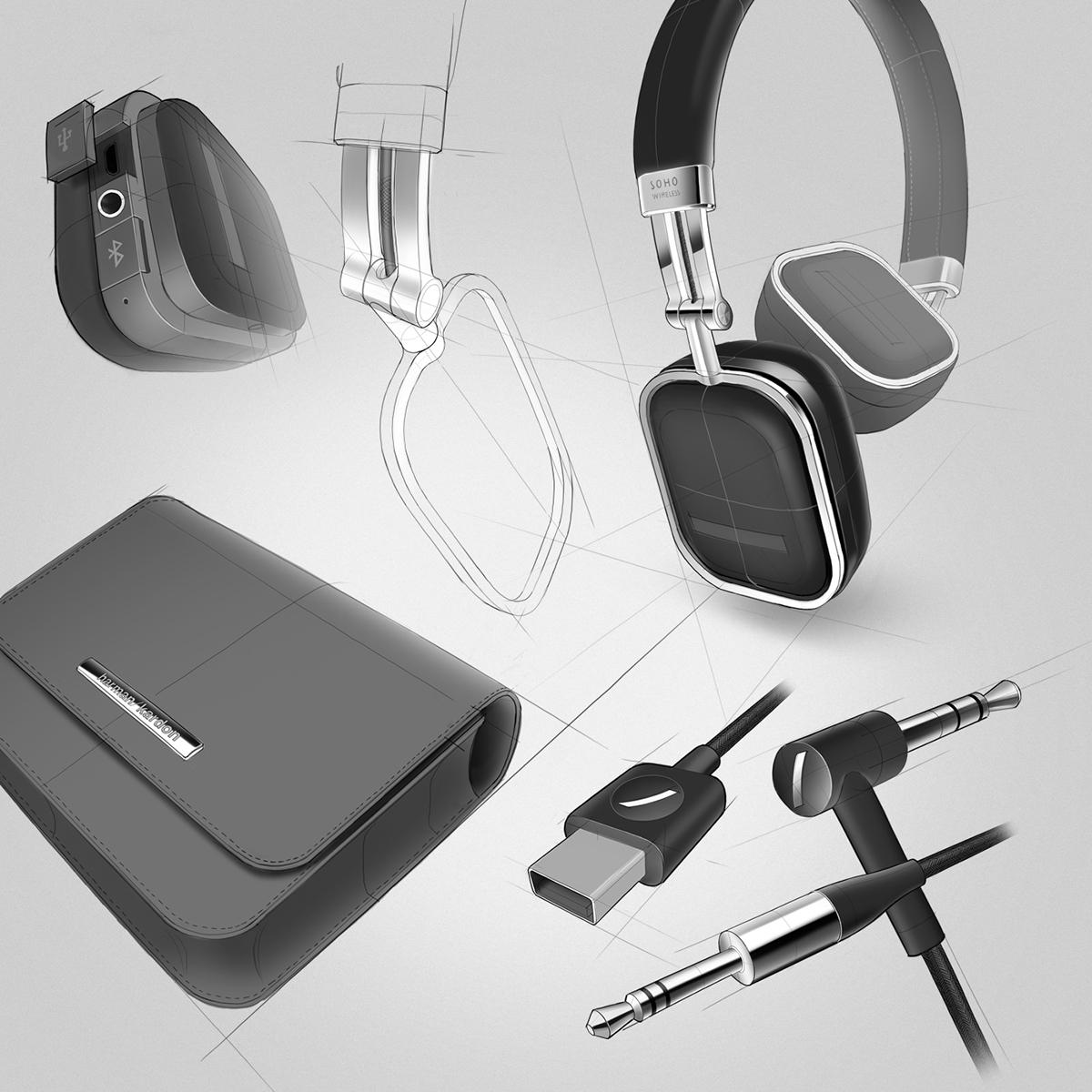 时尚Harman Kardon Soho无线耳机设计