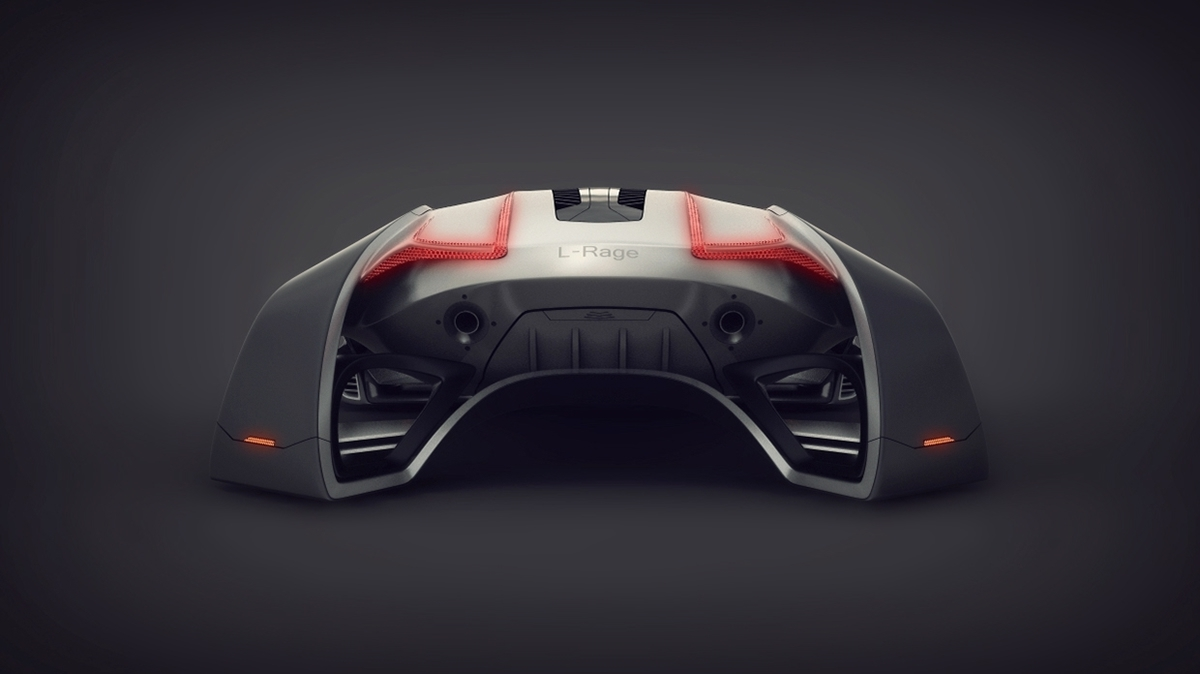 弧形概念车