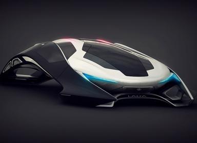 科幻感十足的弧形概念车